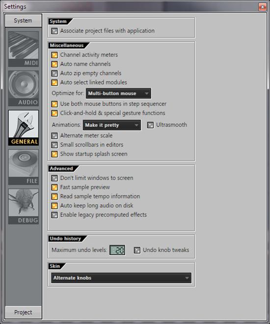 Настройка FL Studio. Основные настройки. (General settings)