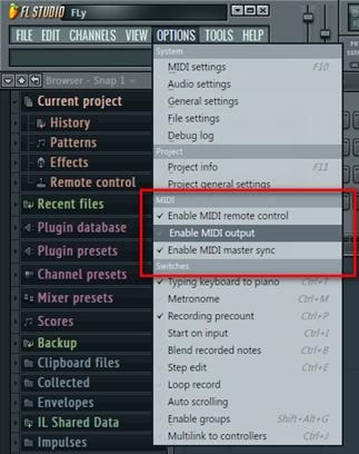 Настройка FL Studio. Настройки MIDI.