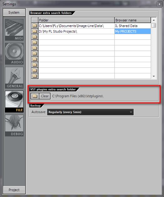 Настройка FL Studio. File Settings