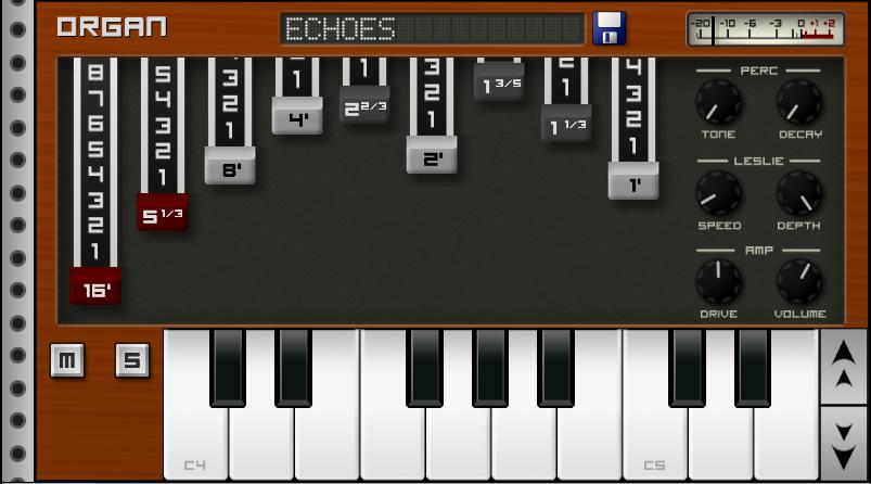 Приложения для создания музыки. Caustic Organ