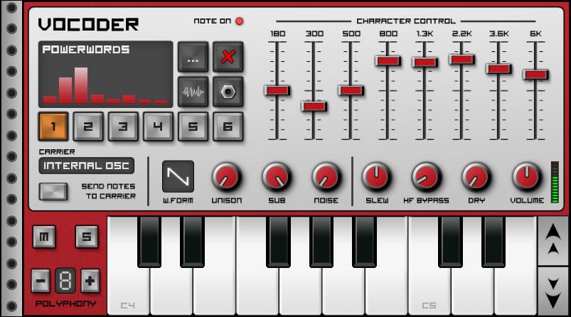Приложения для создания музыки. Caustic Vocoder