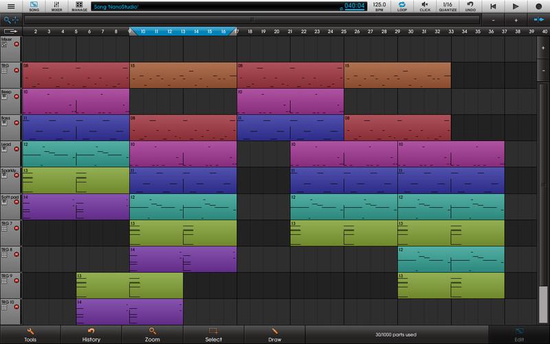 Приложения для создания музыки. NanoStudio