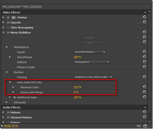 Стабилизация видео Warp Stabilizer в Adobe Premiere pro.