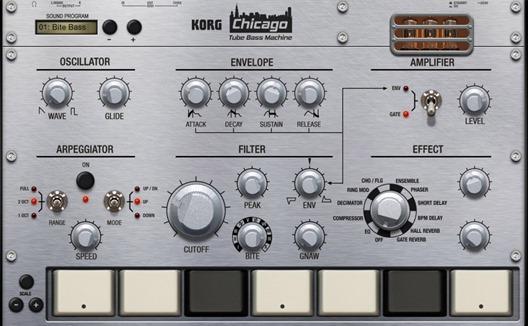 Новое приложение для создания музыки на iPad - Korg Gadget. Chicago
