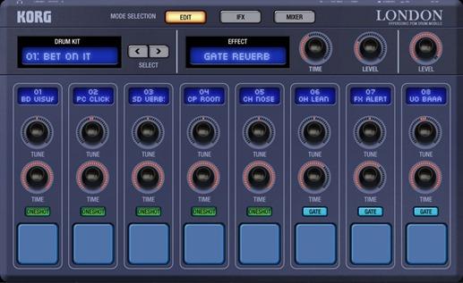 Новое приложение для создания музыки на iPad - Korg Gadget. London