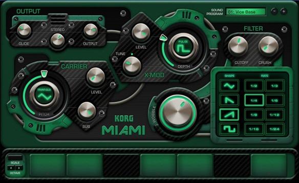 Новое приложение для создания музыки на iPad - Korg Gadget. Miami