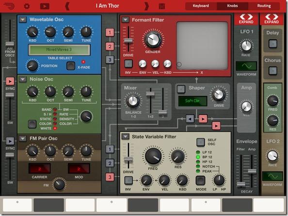 Музыкальные инструменты для iPad Часть 1 Thor Polysonic Synthesizer