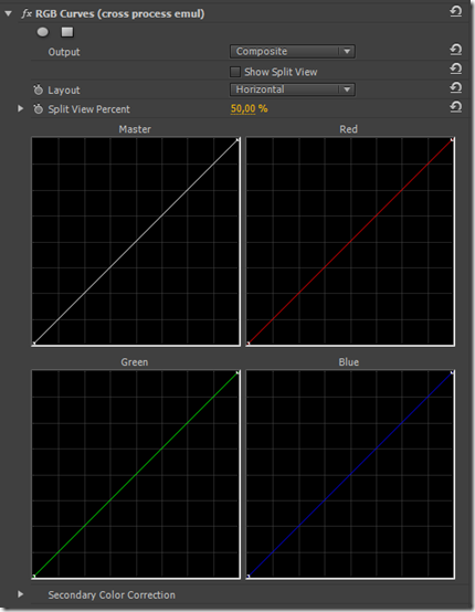 Эффект кросс процесса в Adobe premiere и Sony Vegas