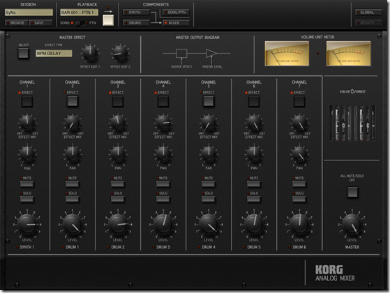 KORG iMS-20 Mixer