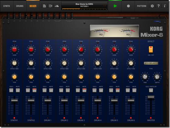 KORG iPolysix mixer