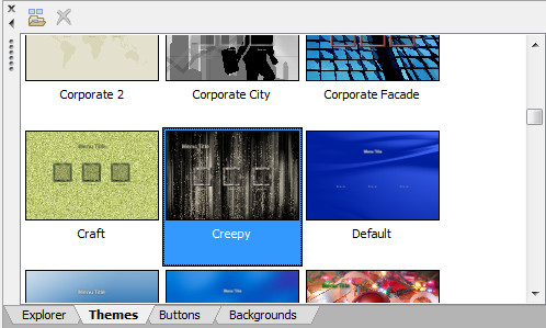 Sony DVD Architect Pro Темы оформления