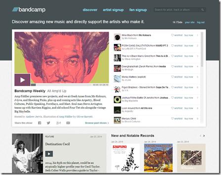Куда загрузить свою музыку в интернете? Bandcamp