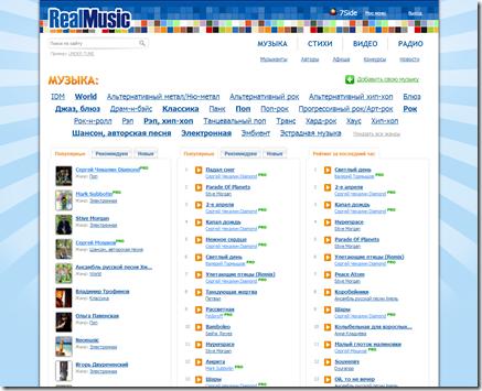 Куда загрузить свою музыку в интернете? Real Music