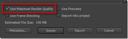 Экспорт видео в Adobe Premiere.