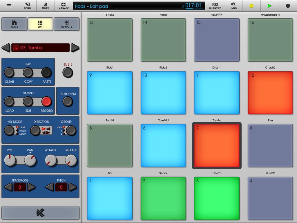 Приложения для создания музыки, Nanostudio TRG-16