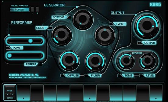 Новое приложение для создания музыки на iPad - Korg Gadget. Brussels
