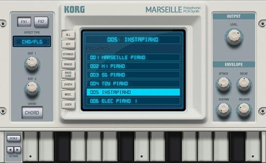 Новое приложение для создания музыки на iPad - Korg Gadget. Marseille