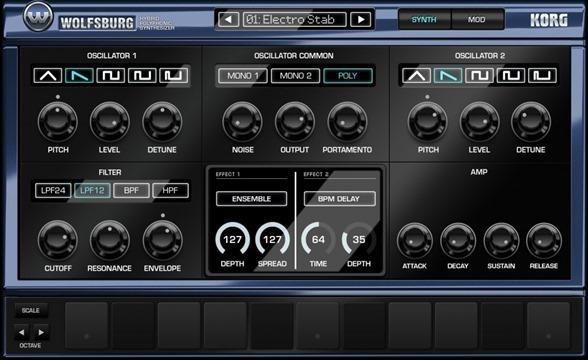Новое приложение для создания музыки на iPad - Korg Gadget. Wolfsburg
