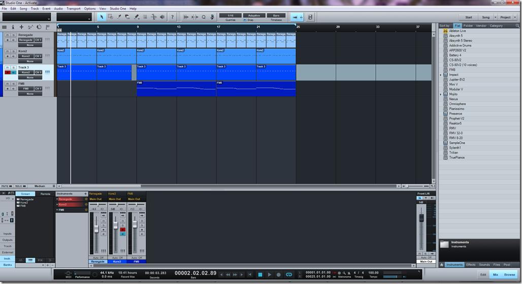 Лучшие программы для создания музыки на компьютере: Presonus Studio One.