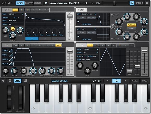 Музыкальные инструменты для iPad Часть 1 Z3TA+