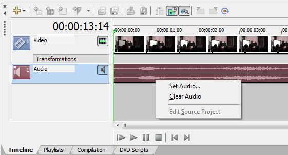 Sony DVD Architect Pro Изменение фонового звука