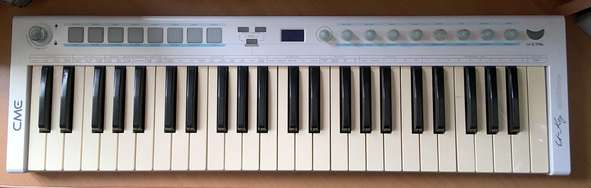 midi клавиатура CME (Что делать если не работают несколько клавиш на midi клавиатуре)